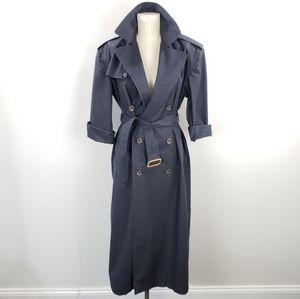 Vintage Ralph Lauren Navy Trench Coat Size 4